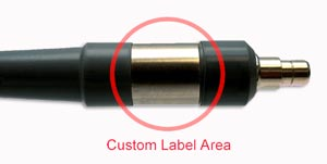 Custom label medical light guides