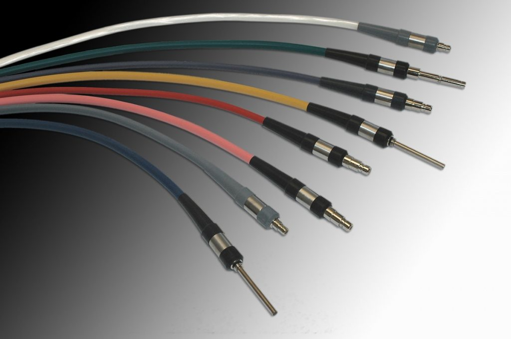 FDA approved single and bifurcated medical cables for fiber optic medical lighting.